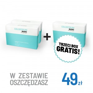 3x Colostrum Basic - Suplement Diety - Colostrum  kapsułki 60 szt.